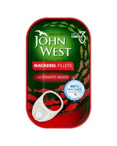 JOHN WEST MACKAREL FILLETS IN TOMATO SAUCE - 125GR