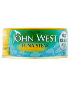 JOHN WEST TUNA STEAKS IN OIL - 160GR